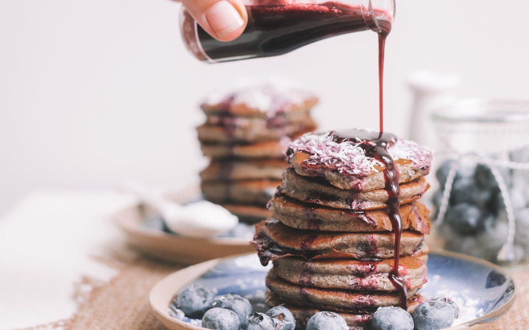 Blueberry chia pancakes