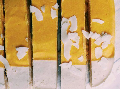 Frozen mango bars