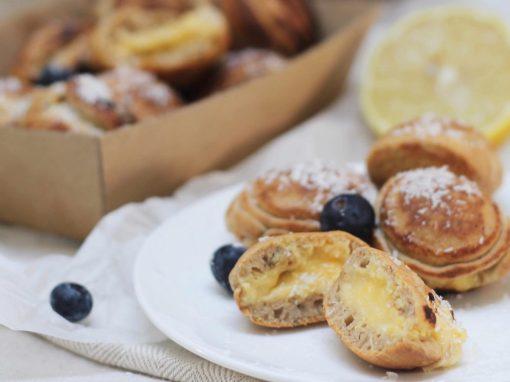 Lemon curd profiterole pancakes