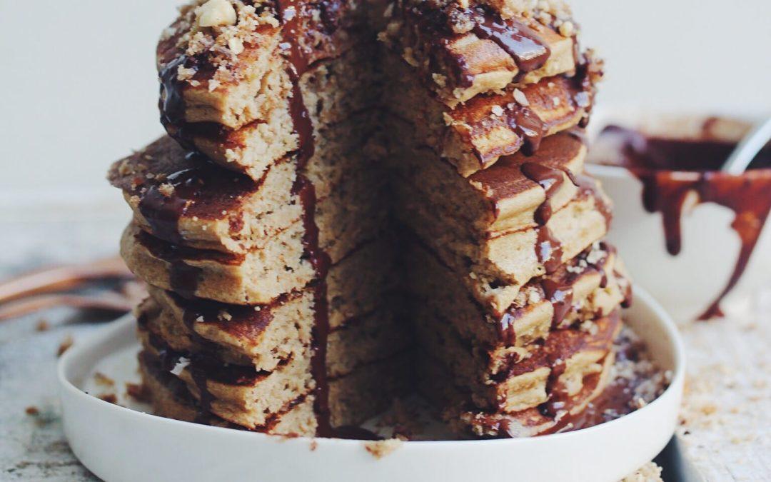 Caramel slice pancakes
