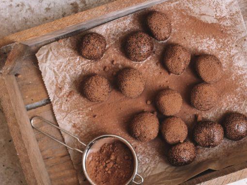 Choc-tahini bliss balls
