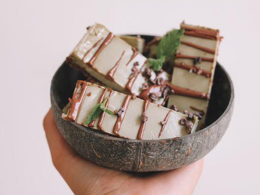Mint chocolate slice