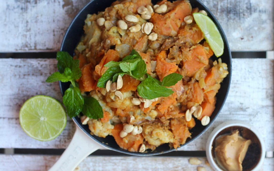 Sweet potato peanut curry