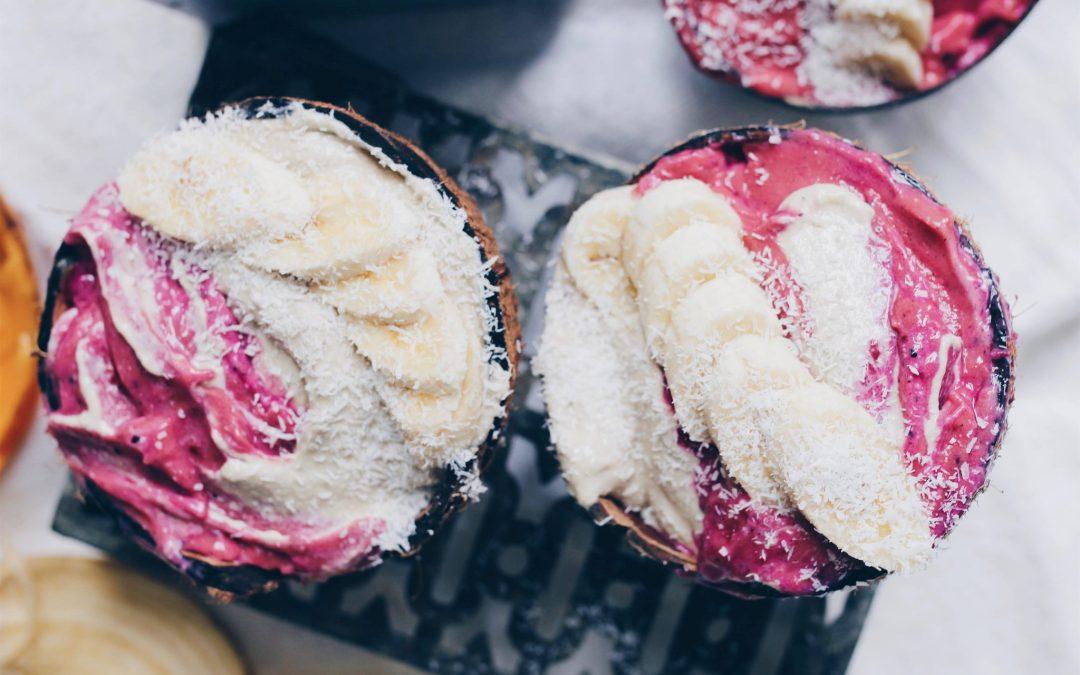Coconut pitaya nicecream