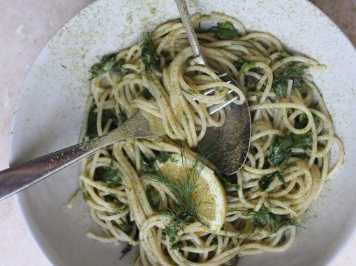 Pasta salsa verde