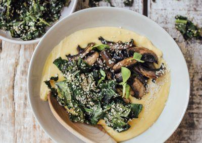 Cheezy truffle polenta