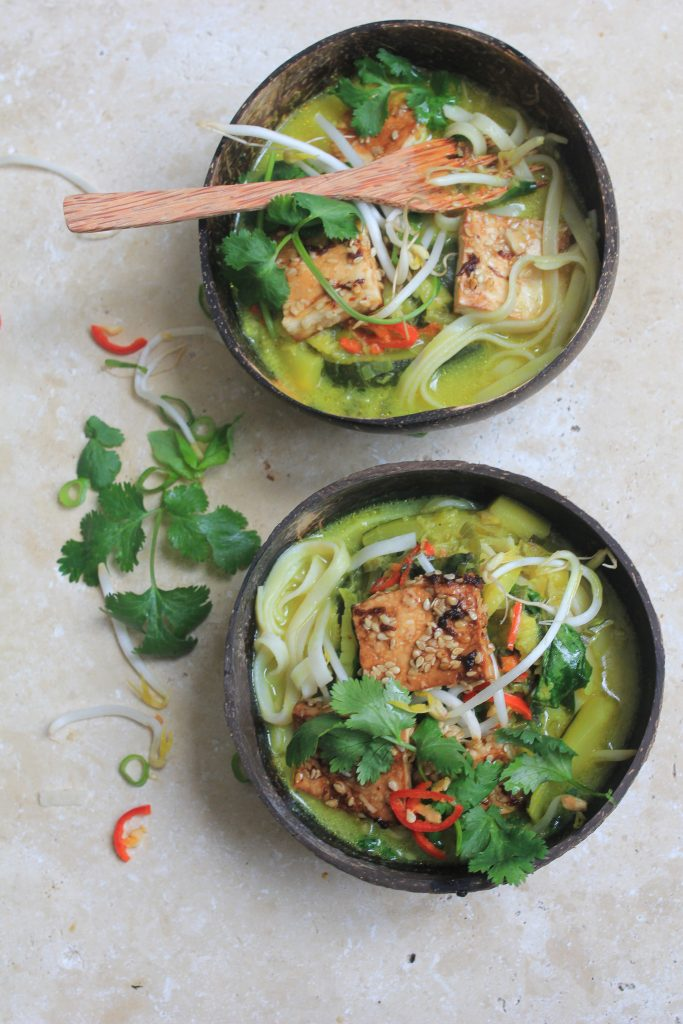 Spicy tofu laksa