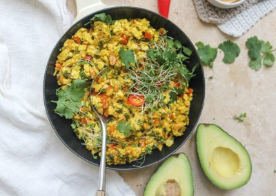 Vegan scrambled tofu