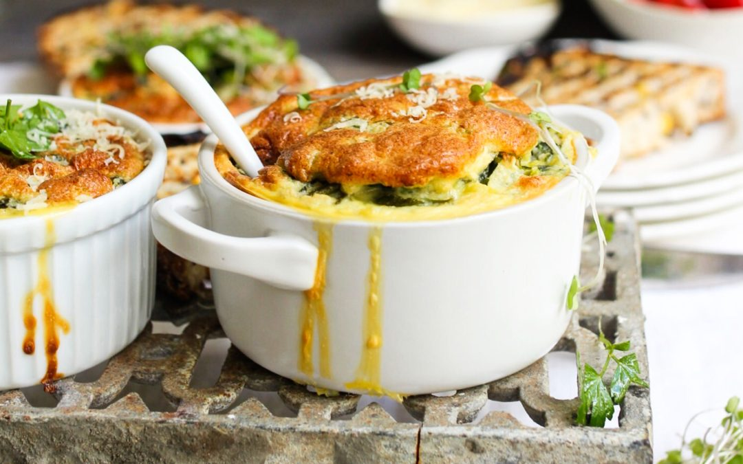 Spinach and ricotta soufflé
