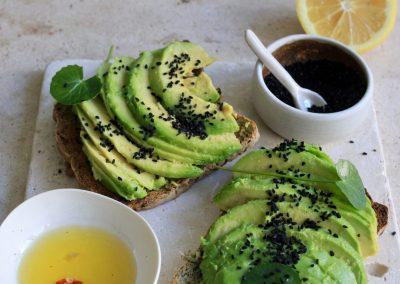 Nigella seeds avo toast