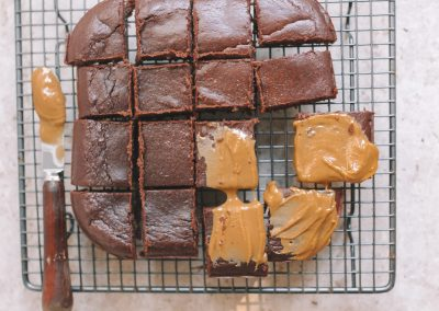 Easy Peasy PB brownies