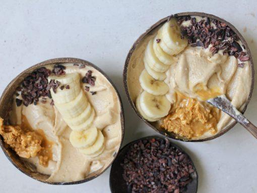 Crunchy peanut butter nice cream