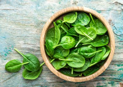 Spinach, plant based sources of iron