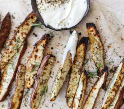 Crispy Garlic & Herb Potato Wedges
