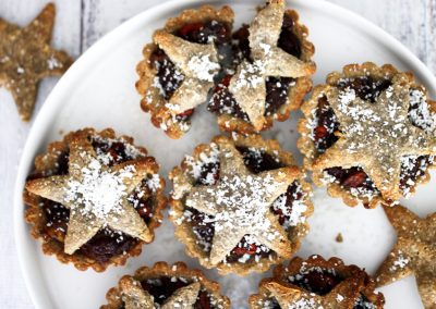 Vegan Mince Pies, gluten free mince pies, nut free mince pies, healthy Christmas recipes