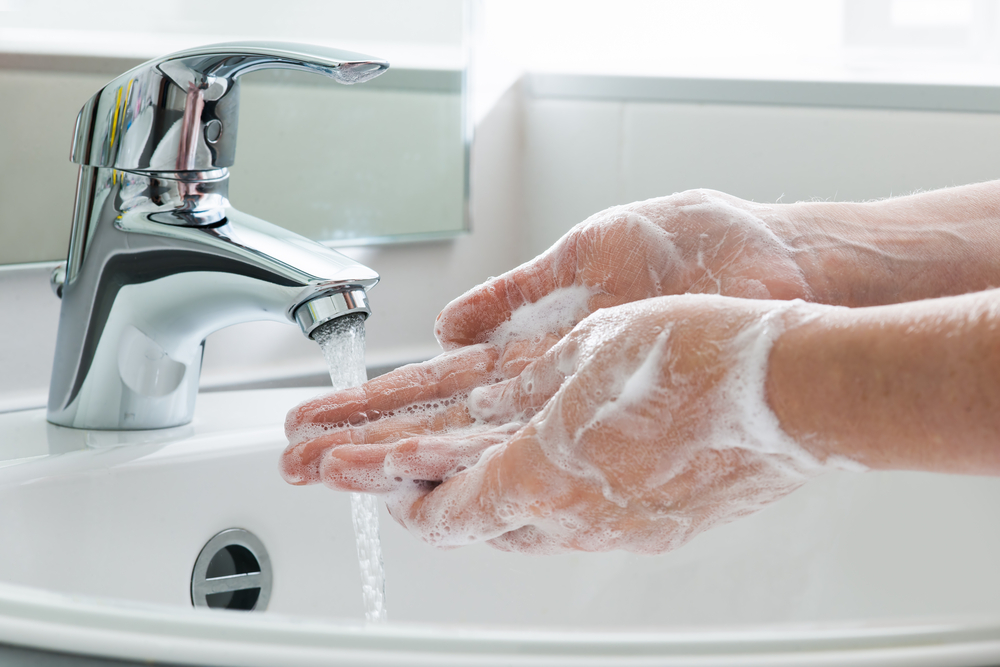 Hand washing staying healthy covid19