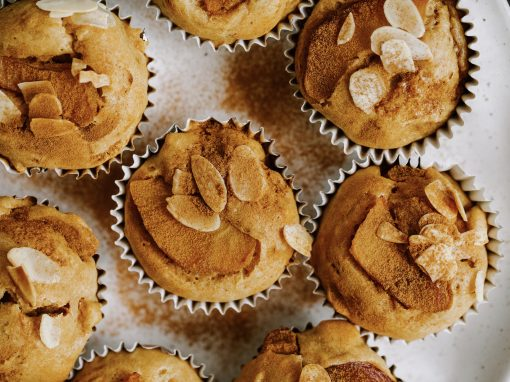 Apple, Cinnamon and Peanut Butter Muffins