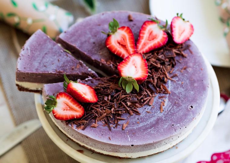 Merry Berry Acai Cheesecake