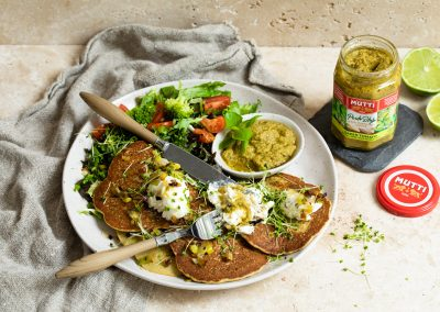Mutti Green Pesto Pancakes