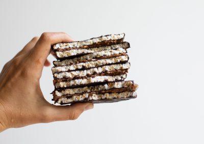Peanut Chocolate Rice Cake Sandwiches